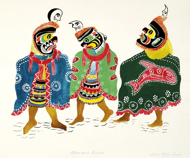 Chief Henry Speck, Moon Mask Dancers