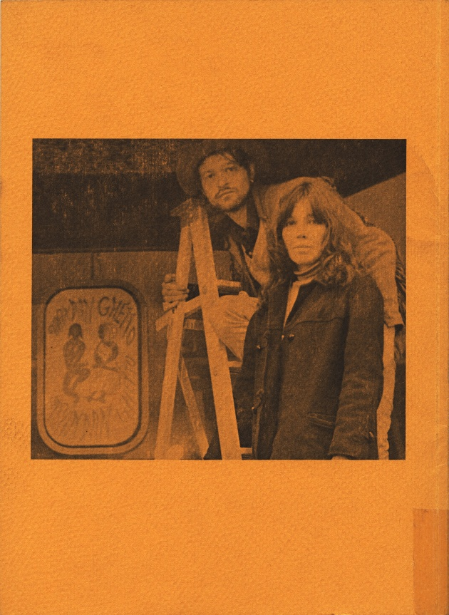 bill bissett, Awake in the Red Desert (back cover), 1968