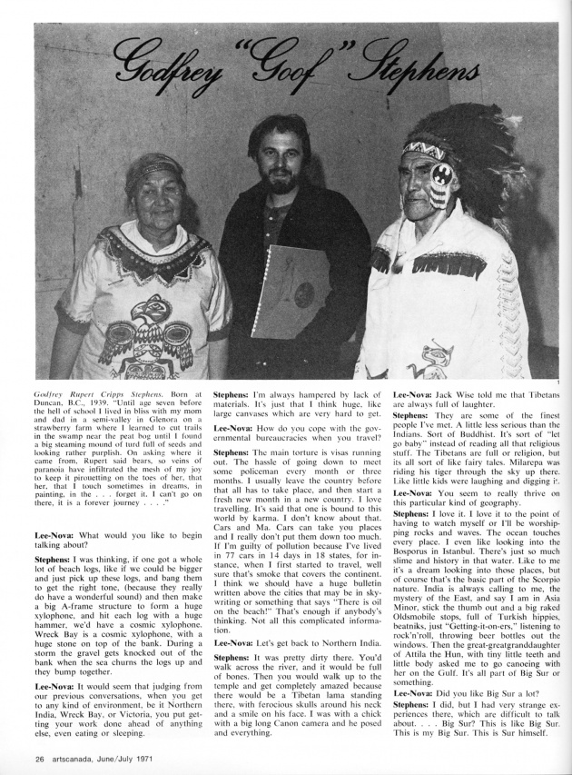 """Our Beautiful West Coast Thing"",  artscanada, June/July, 1971 (page 26)"