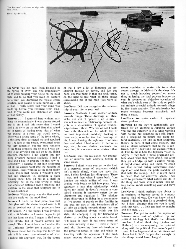 """Our Beautiful West Coast Thing"",  artscanada, June/July, 1971 (page 37)"