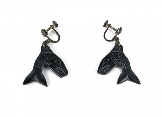 Pat McGuire, Killer Whale Earrings