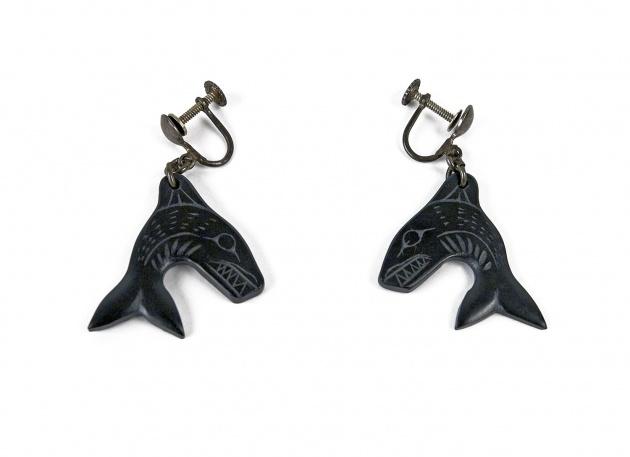 Pat McGuire, Killer Whale Earrings