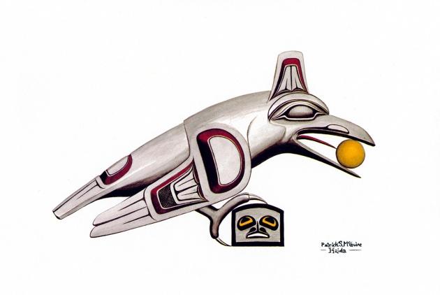 Pat McGuire, Haida Raven with Sun, 1979