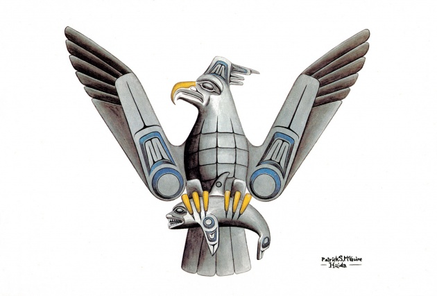 Pat McGuire, Haida Thunderbird, 1979