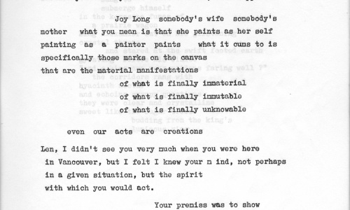 """""""About In Search Of Innocence"""" from Blew Ointment Press, Vol. 1, #1, October, 1963"""